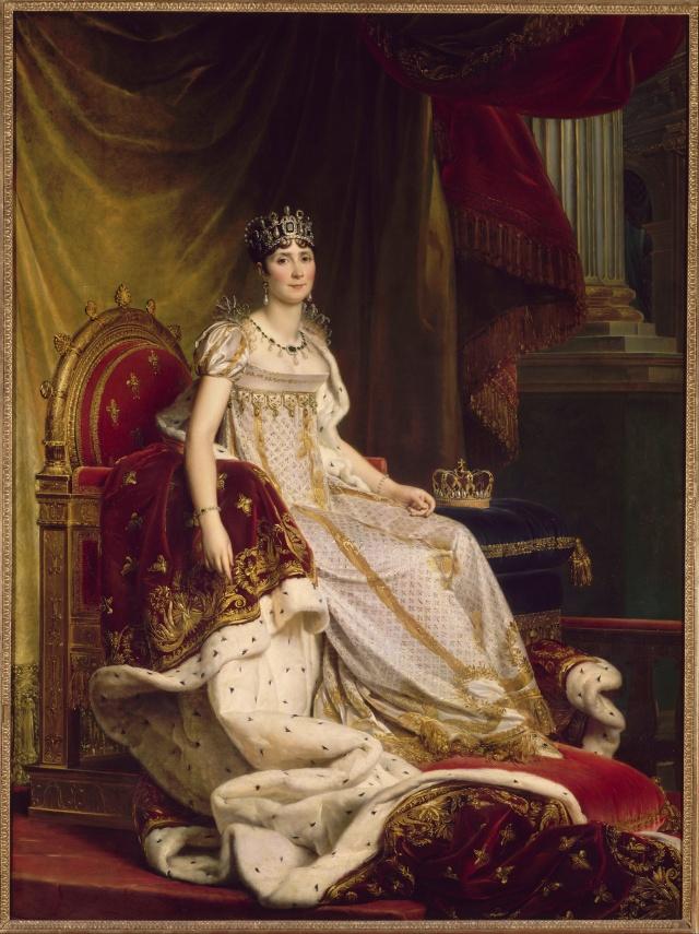 Baron François Gérard. Josefina con el vestido de la coronación. 1807-1808. Museo del Nacional del Castillo de Fontainebleau.