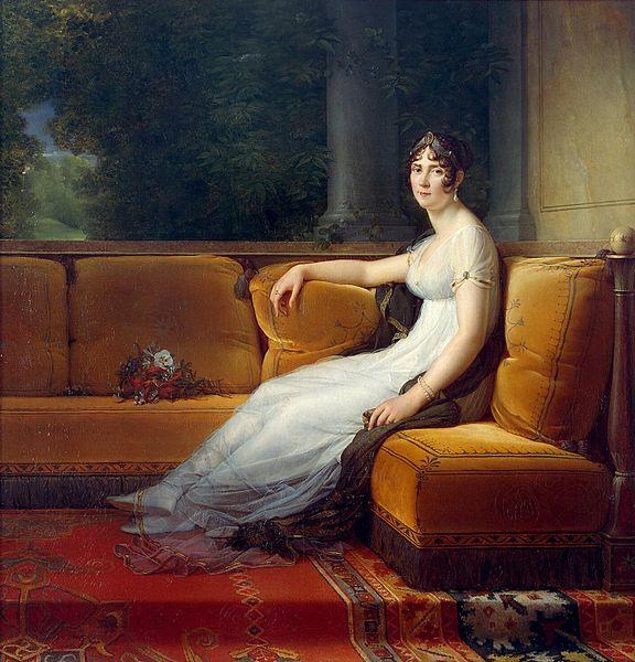 François Gerard. Josefina Bonaparte en su salón de la Malmaison. 1801. Hermitage Museum.