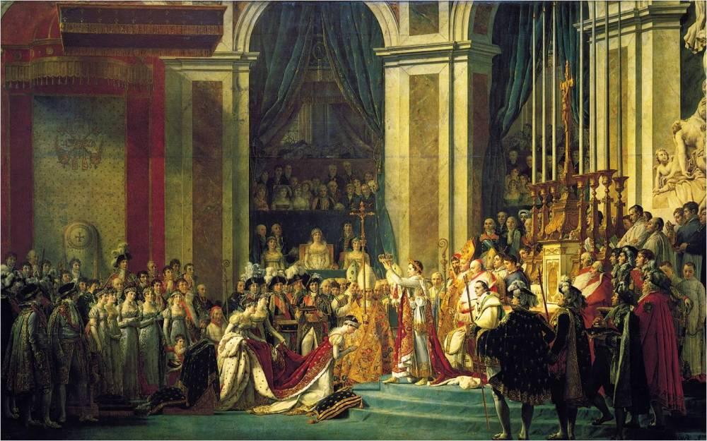 Jaques-Louis David y Georges Rouget. Coronación de Napoleon. 1805-1807. Museo del Louvre. Paris.