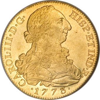 Moneda de Carlos III anverso.