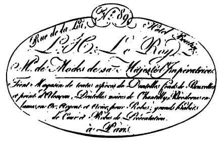 Sello de una factura de LeRoy. 1807.