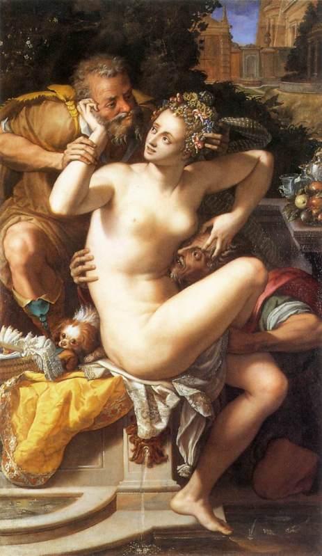 Alessandro Allori. Susana y los viejos. 1561. Museo Magnin.Dijon