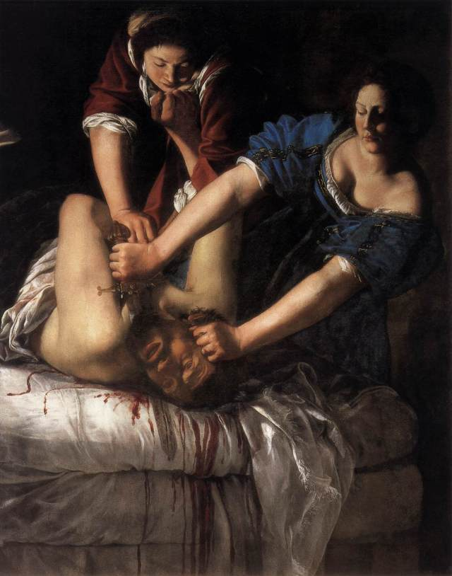 Artemisia Gentileschi. Judith decapitando a Holofernes. 1612-1613. Museo de Capodimonte. Nápoles.