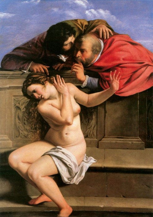 Artemisia Gentileschi. Susana y los viejos.1610,Colección Graf von Schönborn. Pommersfelden. Alemania.