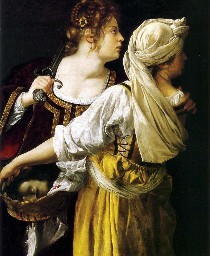 Artemisia Gentilleschi. Judit y su doncella. Hacia1618-1619. Palazzo Pitti. Florencia