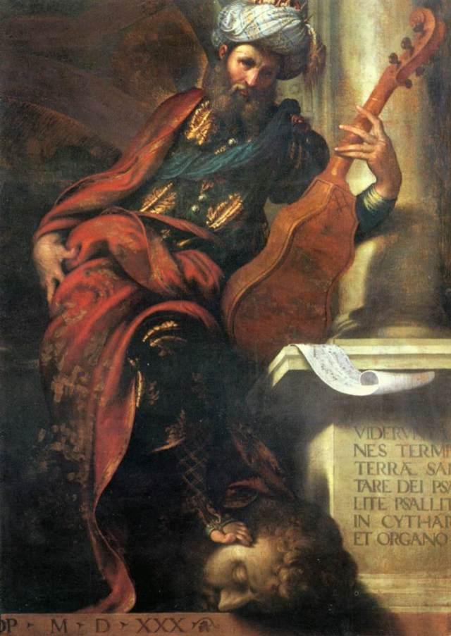 Camillo Boccaccino. El profeta David.1530. Palazzo Farnese. Piacenza.