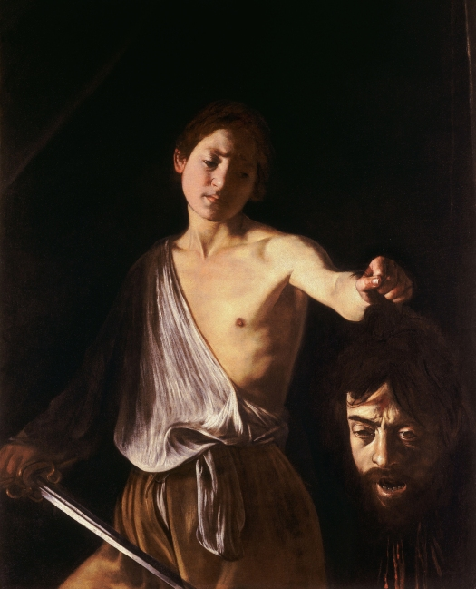 Caravaggio. David con la cabeza de Goliat. 1609-1610. Galería Borghese. Roma.
