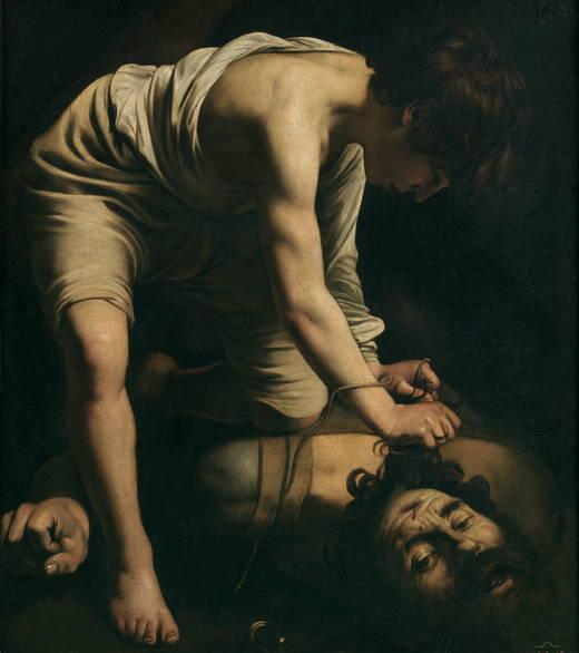 Caravaggio. David vencedor de Goliat. Hacia 1600. Museo del Prado.