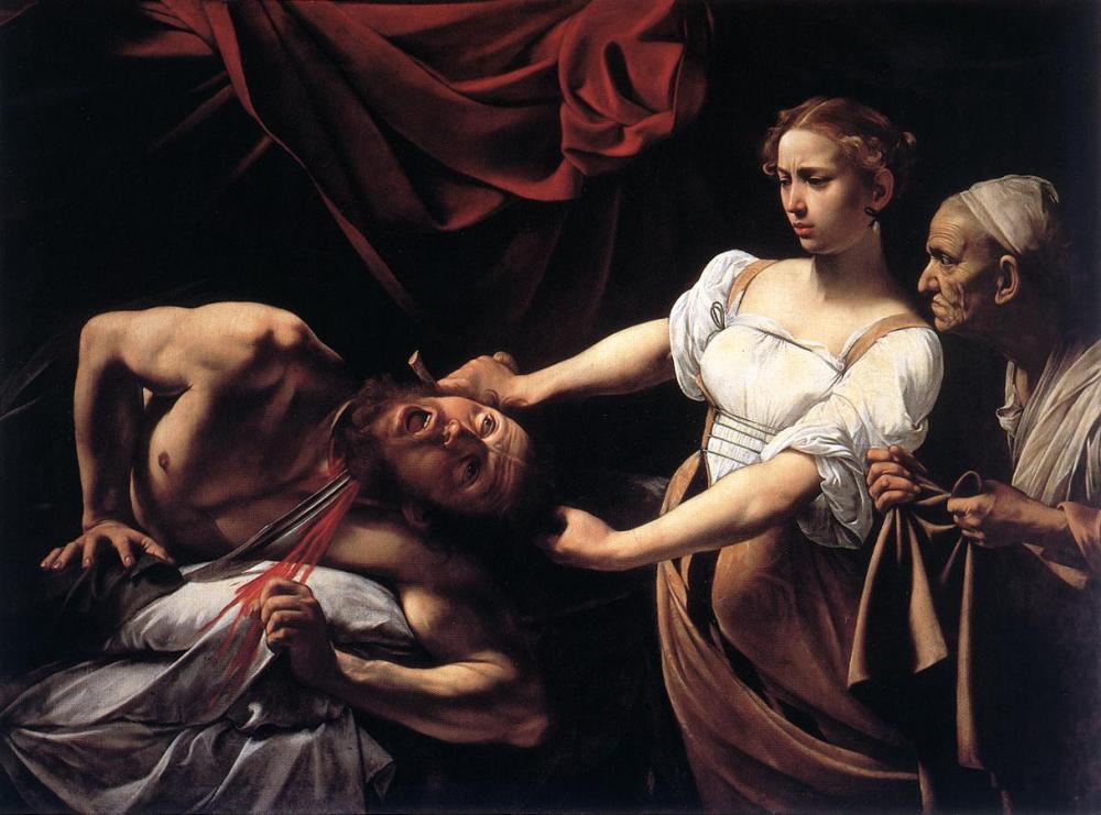 Caravaggio. Judit y Holofernes. 1598-1599. Galleria Nazionale d'Arte Antica. Palacio Barberini. Roma.