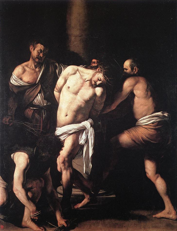 Caravaggio. La flagelación de Cristo. 1607. Museo de Capodimonte, Nápoles.