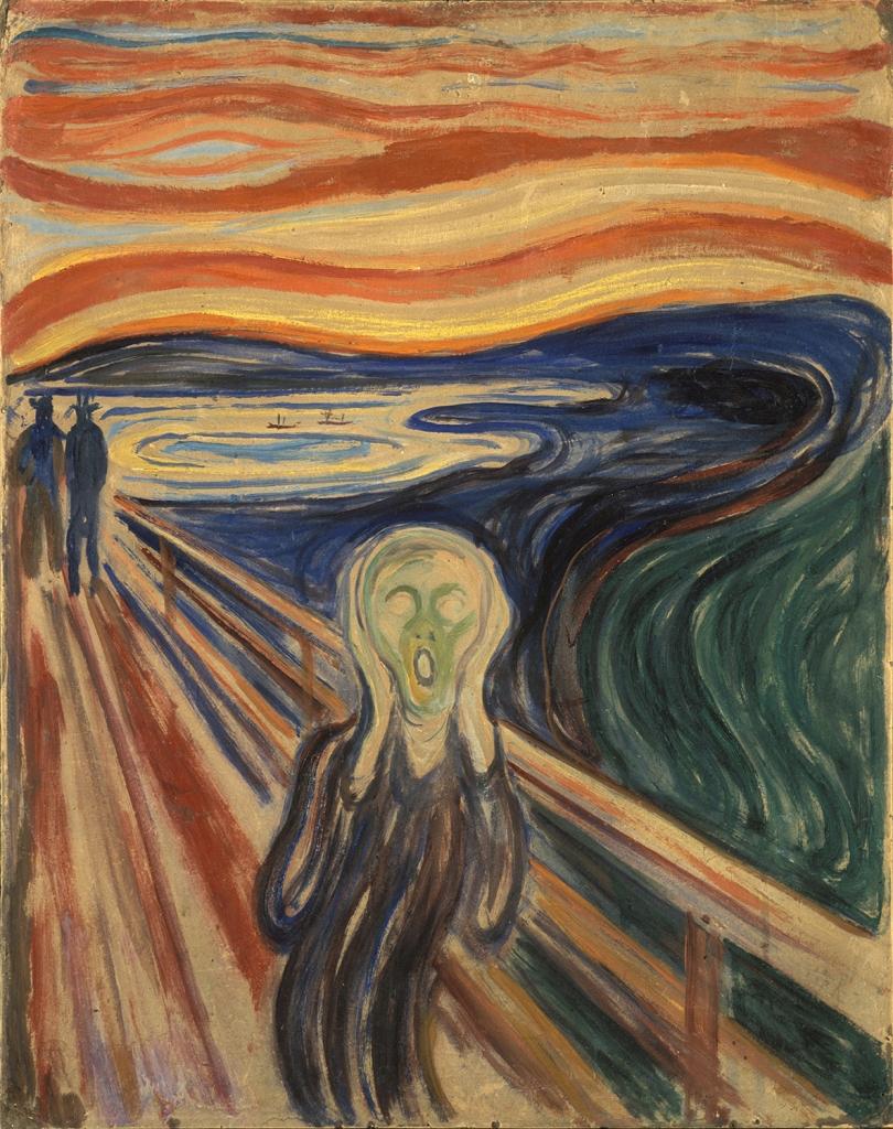 Edvard Munch. El grito. 1893. Galería Nacional de Oslo.