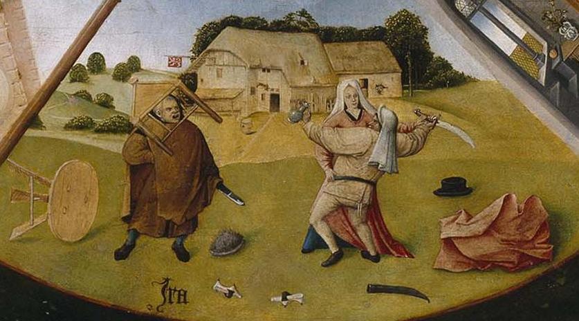 El Bosco. La ira. Mesa de los siete pecados capitales. 1485. Museo del Prado.