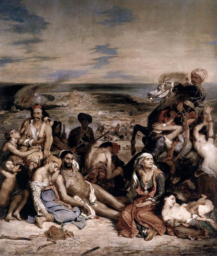 Eugène Delacroix. La matanza de Quíos. 1824. Museo del Louvre.
