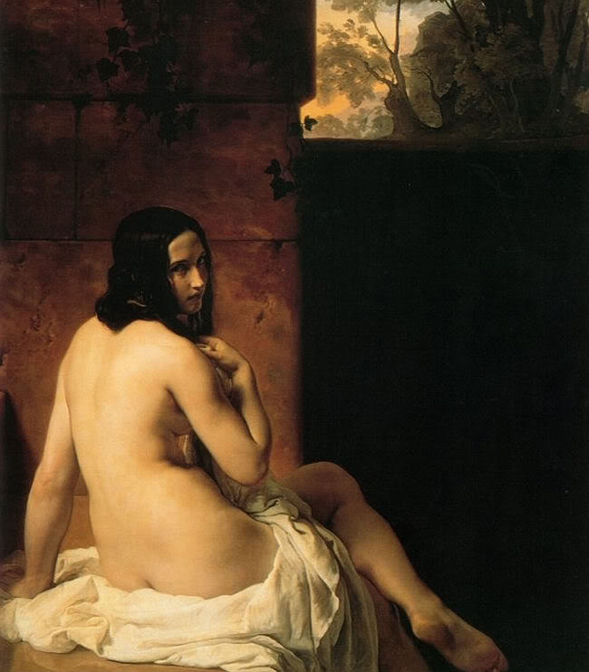 Francesco Hayez. El baño de Susana. 1850. National Gallery. Londres.