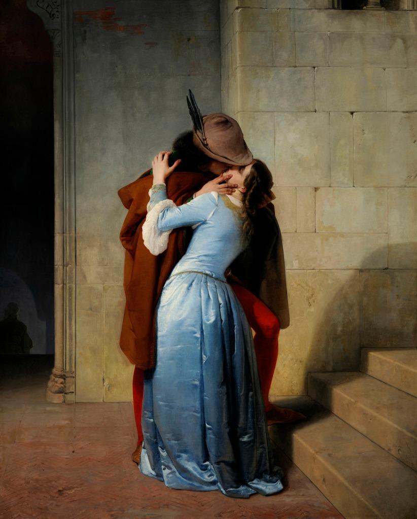 Francesco Hayez. El beso de Romeo y Julieta. 1859. Pinacoteca Brera. Milán.