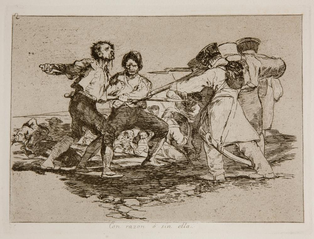 Francisco de Goya. Con razón ó sin ella. 1810-1814. Desastres de la guerra. [estampa], 2. Museo del Prado.