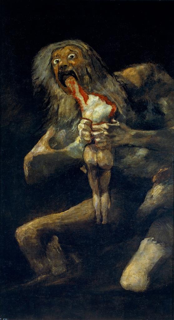 Francisco de Goya. Saturno devorando a un hijo. Hacia 1819-1823. Museo del Prado.