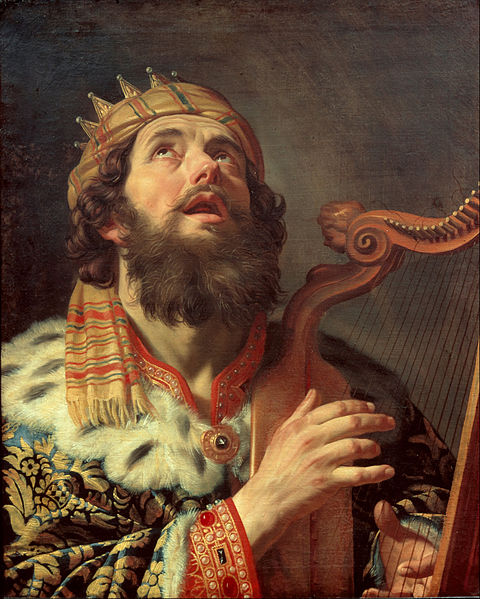 Gerard van Honthorst. El rey David tocando el arpa. 1622.