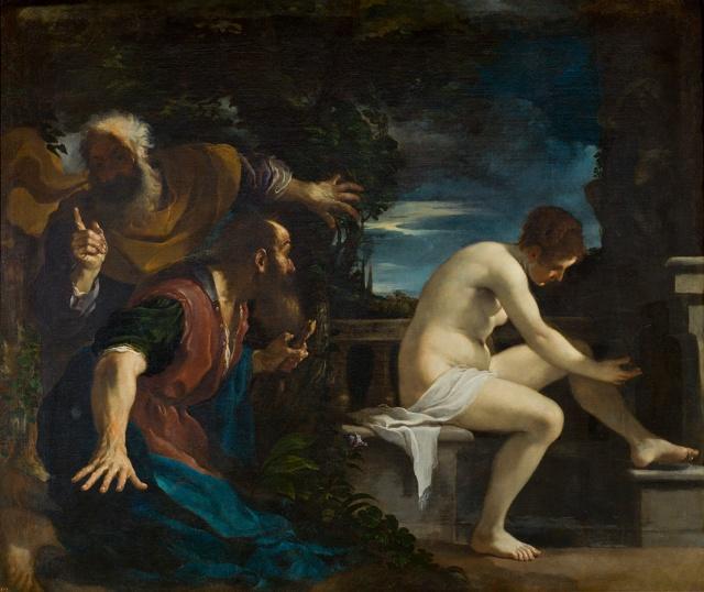 Guercino. Susana y los viejos. Museo del Prado.