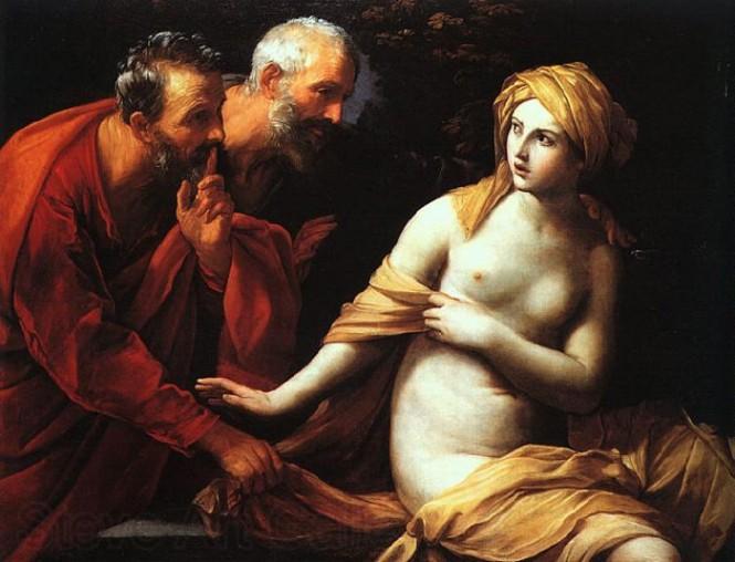 Guido Reni. Susana y los viejos. Hacia 1620-1625. National Gallery. Londres.