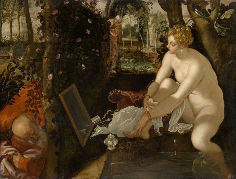 Tintoretto. Susana y los viejos. Hacia 1560-1565. Museo de Historia del Arte. Viena.