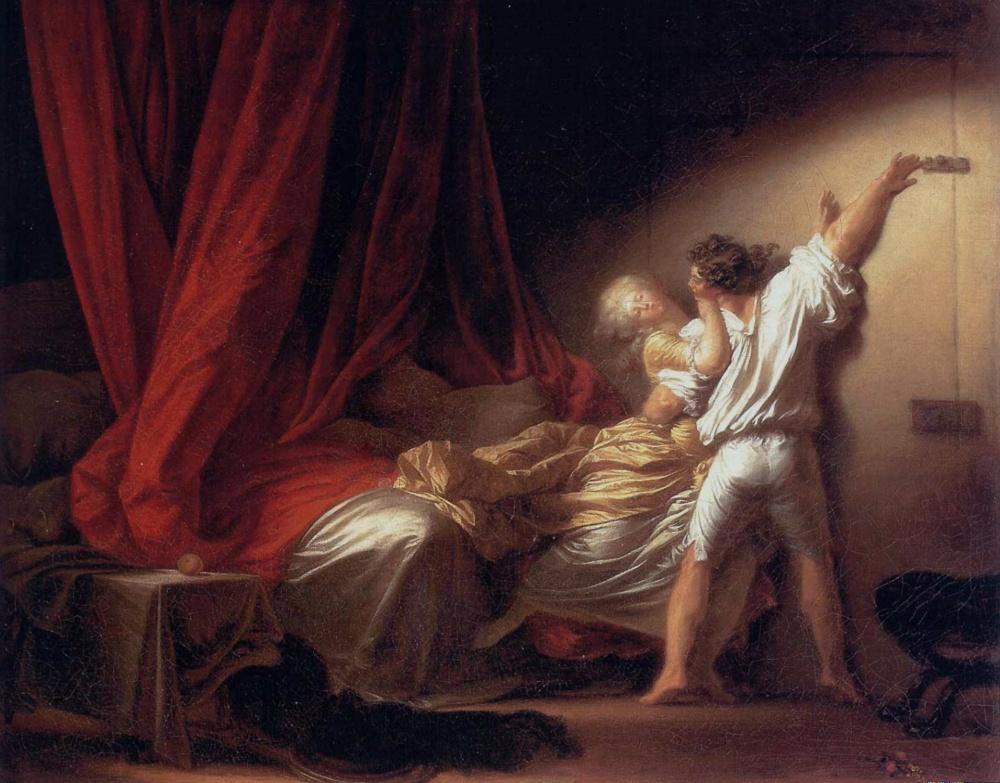 Jean-Honoré Fragonard. El cerrojo. Hacia 1776-1779. Museo del Louvre. París.