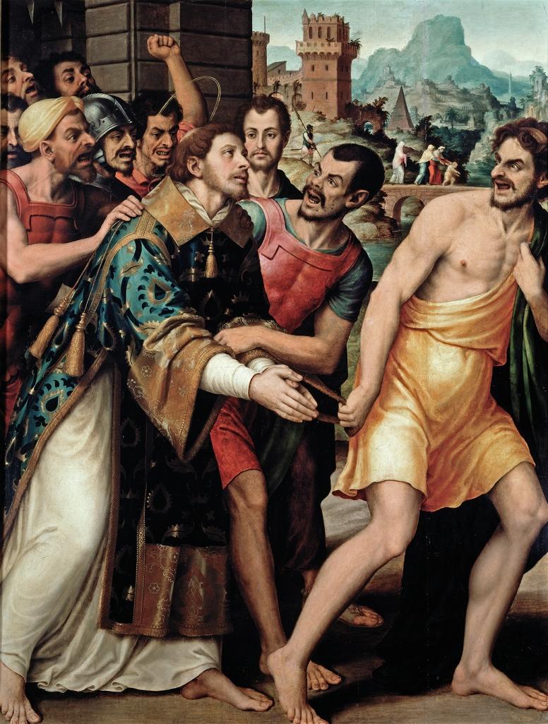 Juan de Juanes. San Esteban conducido al martirio. Hacia 1562. Museo del Prado.
