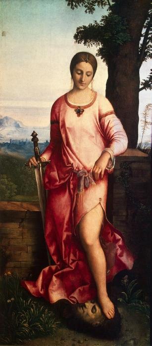 Judith con la cabeza de Holofernes. 1.504. Museo del Hermitage.