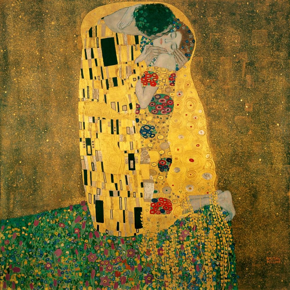 Klimt. El beso.1907-1908. Österreichische Galerie Belvedere. Viena.