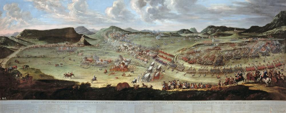 Buenaventura Ligli. Filippo Ballotta. La batalla de Almansa. 1709. Museo del Prado.