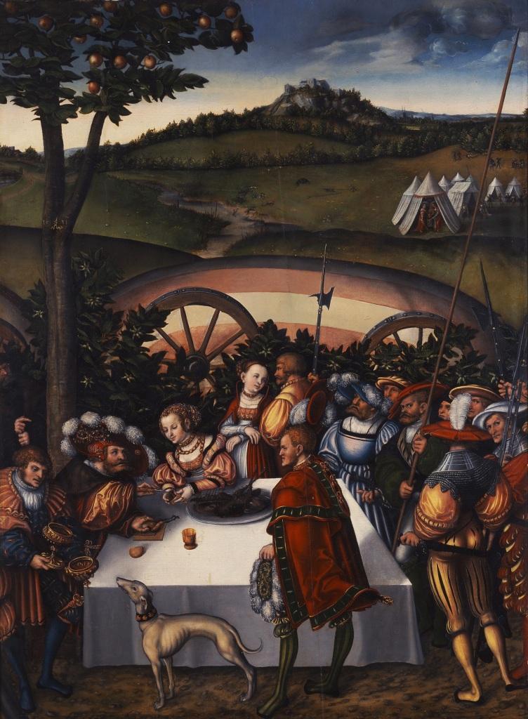 Lucas Cranach el Viejo. Judit a la mesa de Holofernes. 1531. Catillo Museo Friedenstein. Gotha.