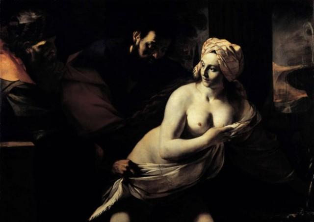 Mattia Preti . Susana y los viejos. Hacia1655-1660. Fondazione di Studi di Storia dell'Arte Roberto Longhi, Florencia.