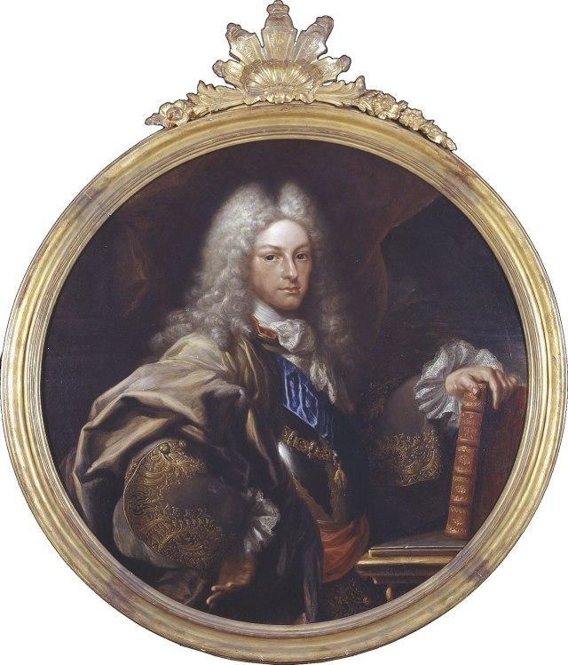 Miguel Jacinto Meléndez. Felipe V. 1727. Biblioteca Nacional de España.