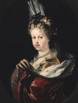 Miguel Jacinto Meléndez. María Luisa Gabriela de Saboya. Hacia 1712. Museo Lázaro Galdiano.