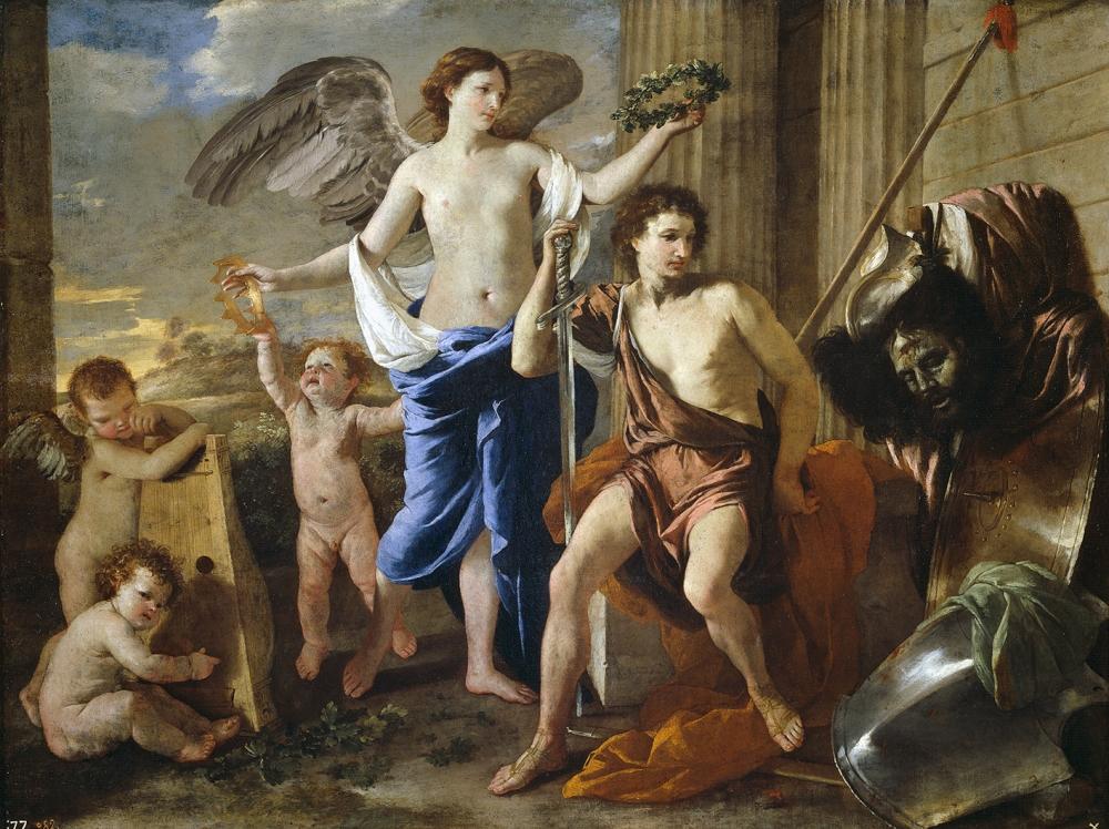 Nicolás Poussin. El triunfo de David. Hacia 1630. Museo del Prado.