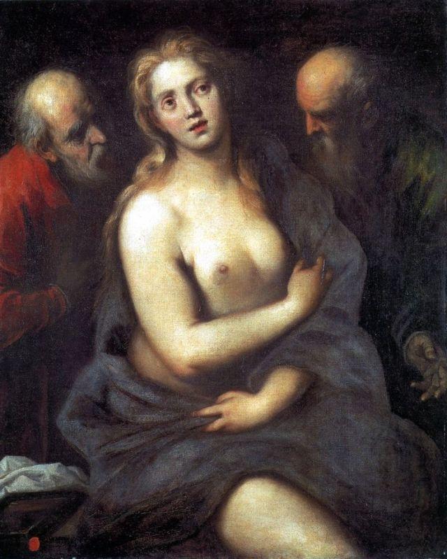 Palma el joven. Susana y los viejos. Siglo XVI.Galleria dell'Accademia. Venecia.