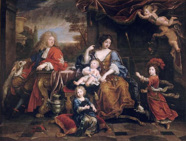 Pierre Mignard. La familia del Gran Delfín. 1687. Palacio de Versalles.