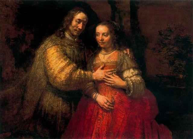 Rembrandt. La novia judía. 1666. Rijksmuseum. Amsterdam.