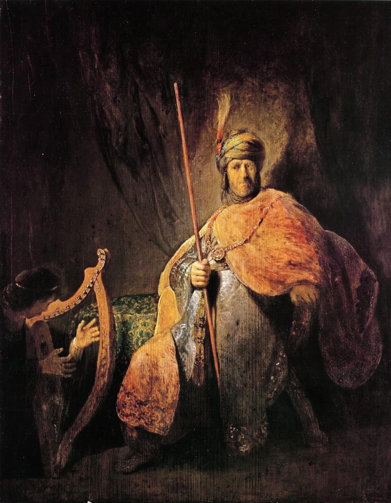 Rembrandt. David tocando el arpa para Saúl. 1650-55. Städelsches Kunstinstitut.
