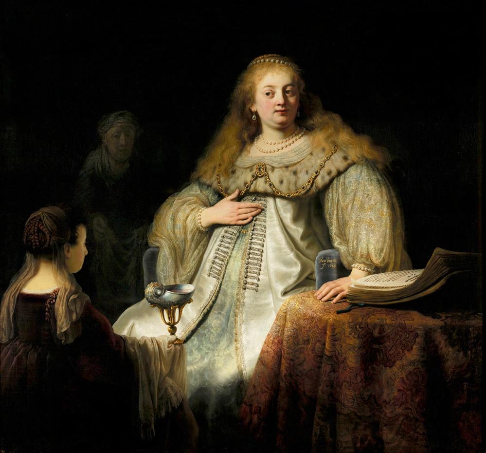 Rembrandt. Judit en el banquete de Holofernes. Museo del Prado.