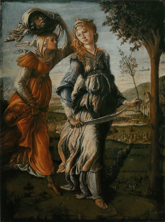 Sandro Botticelli. Retorno de Judit a Betulia. 1470. Ufficci. Florencia.