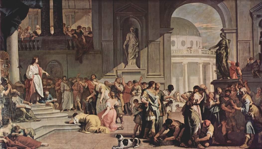 Sebastiano Ricci. Susana ante Daniel. 1726. Galería Sabauda. Turín.