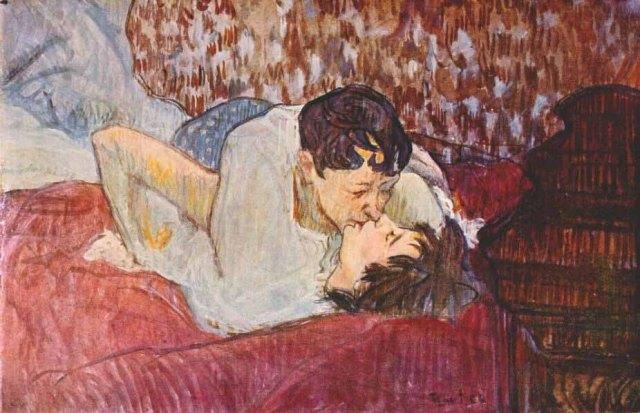 Toulouse Lautrec. El beso. 1892. Colección particular