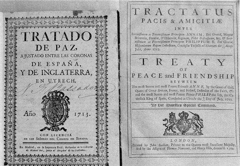 Tratado de Utrecht. 1713