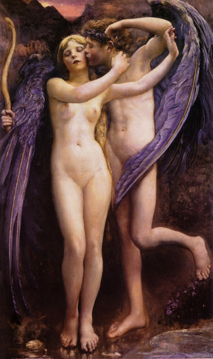 Annie Swynnerton. Cupido y Psyche. 1891. Gallery Oldham. Greater Manchester. Inglaterra.