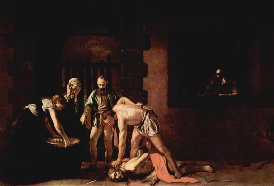 Caravaggio. La decapitación de San Juan Bautista. 1608. Concatedral de San Juan. La Valeta. Malta.