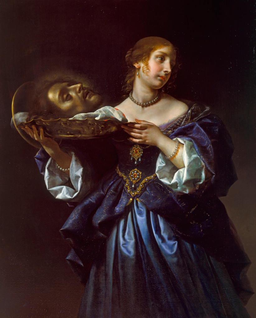 Carlo Dolci. Salomé con la cabeza del Bautista. 1665-1670. Colección Real. Castillo de Windsor.