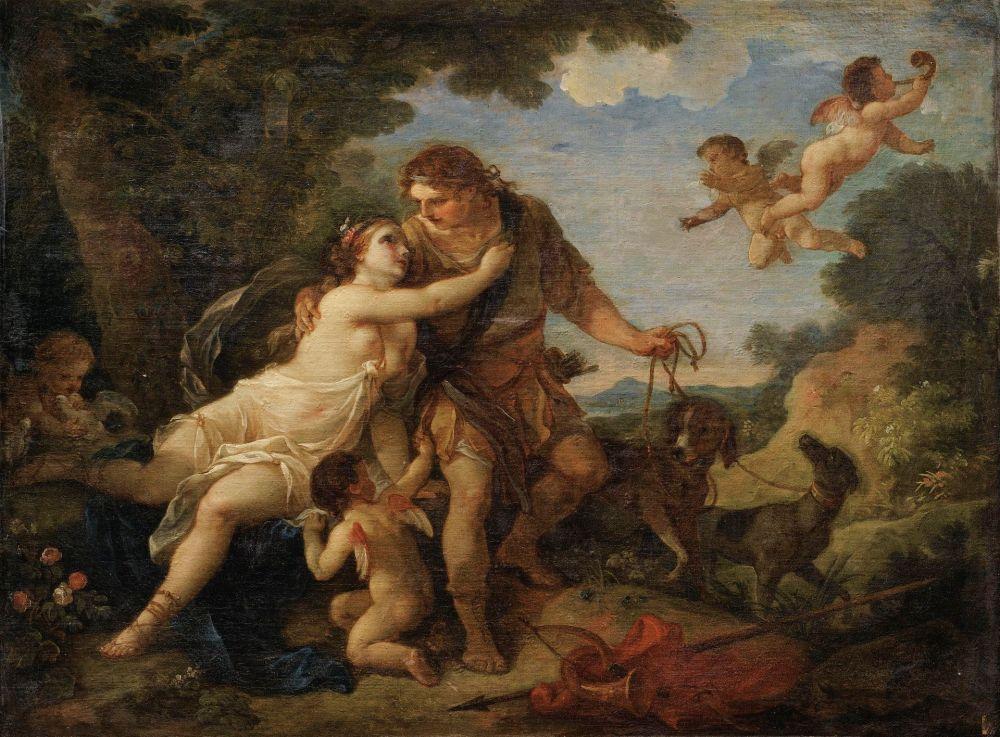 Charles-Joseph Natoire. Venus y Adonis. 1767. Colección particular.