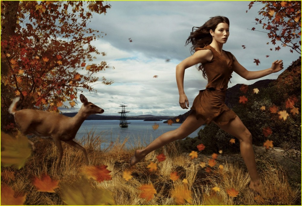 Jessica Biel. Foto: Annie Leibovitz.