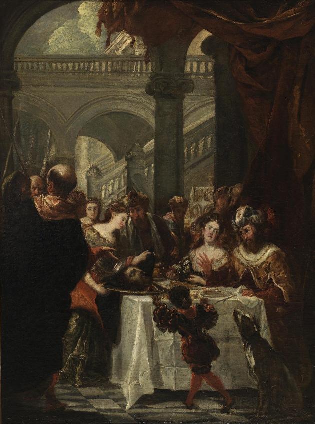 Juan Carreño de Miranda. El festín de Herodes (boceto). Siglo XVII. Museo del Prado.